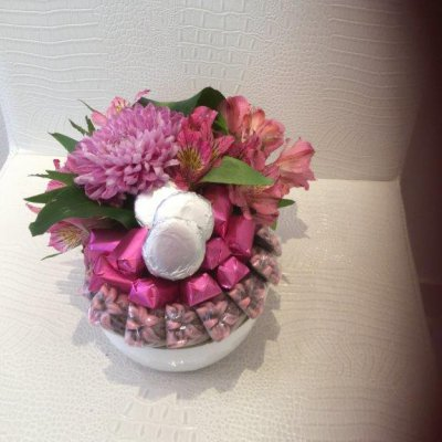 cute arrangement for new born baby